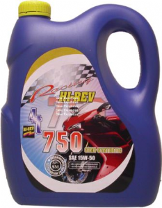 HI REV Super 4T: Semi Synthetic Engine Oil 15w50 4xLtr